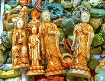 Puce en plastique Mark Beijing China t de Buddhas Panjuan de reproduction chinoise photos libres de droits