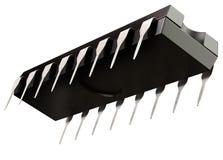 Puce micro de circuit intégré ou de logique et nouvelles technologies sur d'isolement Images libres de droits