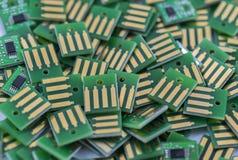 Puces électroniques de Manys images stock