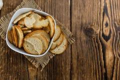 Puces cuites au four fraîches de pain Photographie stock