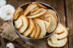 Puces cuites au four fraîches de pain Photo stock