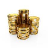 Puces d'or de casino Photos stock