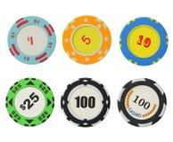 puces de casino Image stock