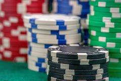 Puces de casino Photographie stock