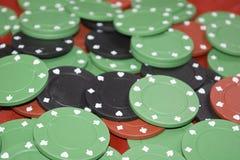 Puces de casino images libres de droits