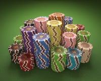 Puces de casino Photographie stock libre de droits