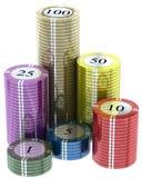 Puces de casino photos stock