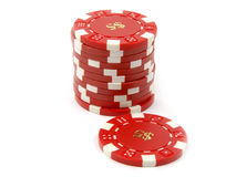 Puces de casino Images stock