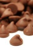 Puces de chocolat Photos stock