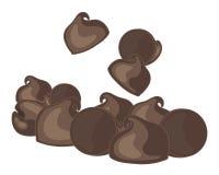 Puces de chocolat Images stock