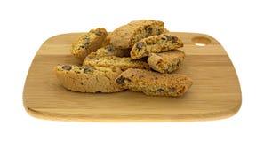 Puces de chocolat croustillantes de Cantuccini Images stock