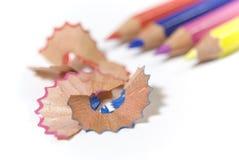 Puces de crayon Photos libres de droits