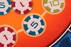 Puces de jeu colorées Photos libres de droits