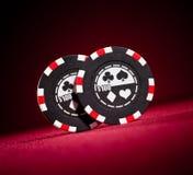 Puces de jeu de casino Photographie stock libre de droits
