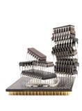 Puces de microcircuit Image libre de droits