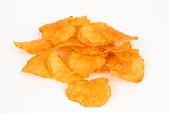 Puces de Potatoe avec le fond blanc Photo libre de droits
