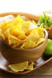 Puces de tortilla de maïs images libres de droits