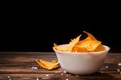 Puces mexicaines de nacho photographie stock