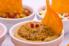 Puces rondes en sauce à moutarde Images stock
