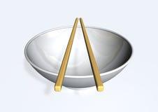 pucharów chopsticks ilustracja wektor
