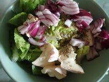 Puchar świeżego warzywa sałatka obrazy stock