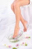 puchar aromatherapy nogi obrazy royalty free