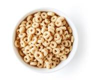 Puchar Cały Zbożowy Cheerios zboże od above, obrazy stock