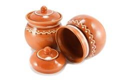 puchar glina ceramiczna dwa Zdjęcia Royalty Free
