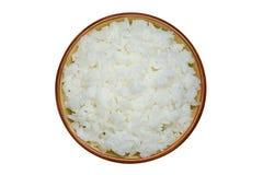 Puchar gotowani ryż odizolowywający na białym tle Obraz Royalty Free