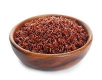 Puchar gotujący brązów ryż odizolowywający obrazy stock