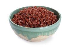 Puchar gotujący brązów ryż odizolowywający obrazy royalty free