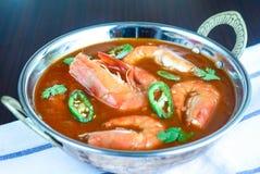 Puchar Krewetkowy curry zdjęcie stock