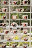 Puchar kurczak lub filiżanka mueang Lampang kurczaka i foki Obrazy Stock