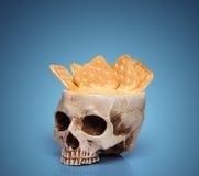 Puchar ludzka czaszka Obrazy Stock