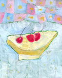 Puchar owoc Obrazy Stock