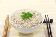 Puchar ryż, chopsticksBowl ryż i chopsticksBowl Zdjęcia Stock