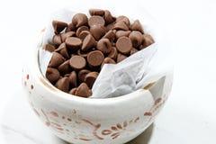 puchar szczerbi się czekoladę Obrazy Stock