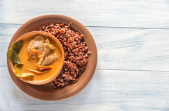 Puchar tajlandzki panang curry Obraz Stock