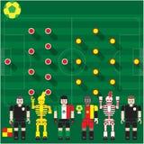 Puchar Świata grupa Mex vs krzywka Zdjęcia Royalty Free
