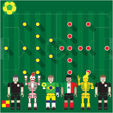 Puchar Świata grupa stanik vs Mex Fotografia Royalty Free