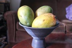 Puchar wielcy mango na stole Obraz Royalty Free