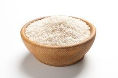 Puchar z ryż na białym tle fasoli marchewek kalafiorów karmowi naturalni smyczkowi warzywa zdjęcia royalty free
