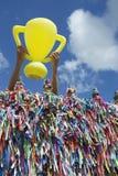 Pucharu Świata Brazylia szczęścia trofeum obrazy royalty free