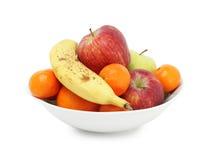 pucharu świeżej owoc biel Fotografia Royalty Free