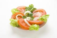 pucharu świeżej sałaty naturalny cebulkowy sałatkowy pomidor Zdjęcie Stock