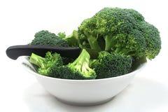 pucharu brokułów nożowy biel Obraz Royalty Free