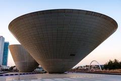Pucharu budynek w Songdo obrazy royalty free