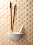 pucharu chopstick obrazy stock