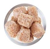 pucharu cukier trzciny szklany gomółki cukier Zdjęcie Royalty Free