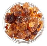 pucharu cukier trzciny szklany rozsypiska gomółki cukier Obraz Royalty Free